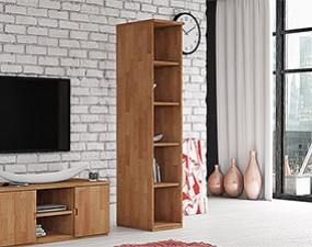 Narrow bookcase VENTO
