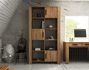 Wide bookcase CUBIC