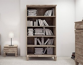 Wide bookcase BONA