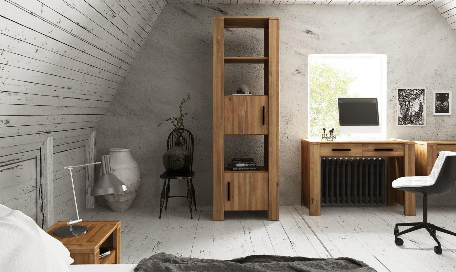 Narrow bookcase CUBIC