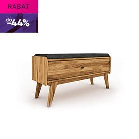 Upholstered bench with drawers RETRO
