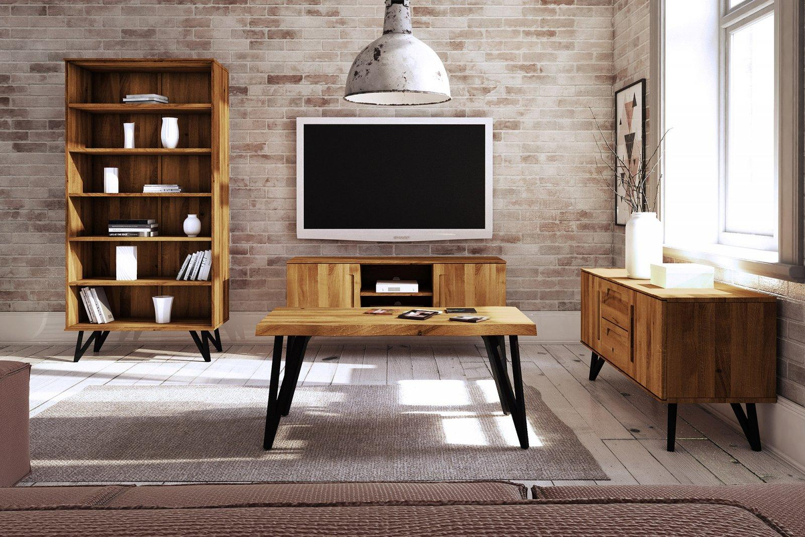 Coffee table with a natural top GOLO