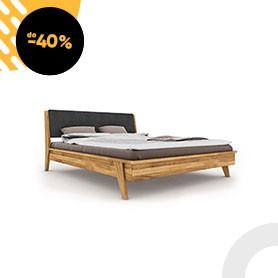 RETRO 1 Bed with upholstered headboard