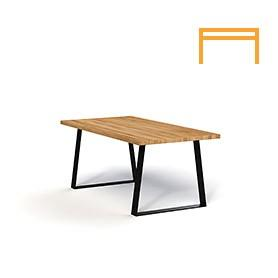 Non-folding table ZINC