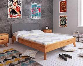 Greg bed with upholstered headboard