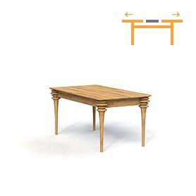 Table with extendable top PARIS