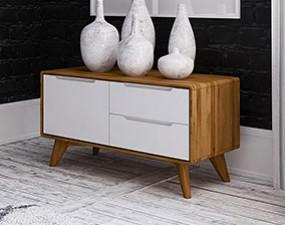 Low chest of drawers BIANCO
