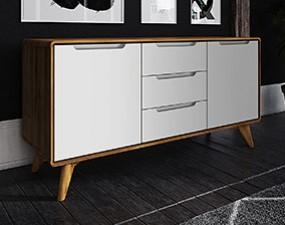 Chest of drawers wide BIANCO