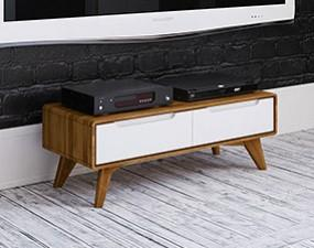 TV stand low BIANCO
